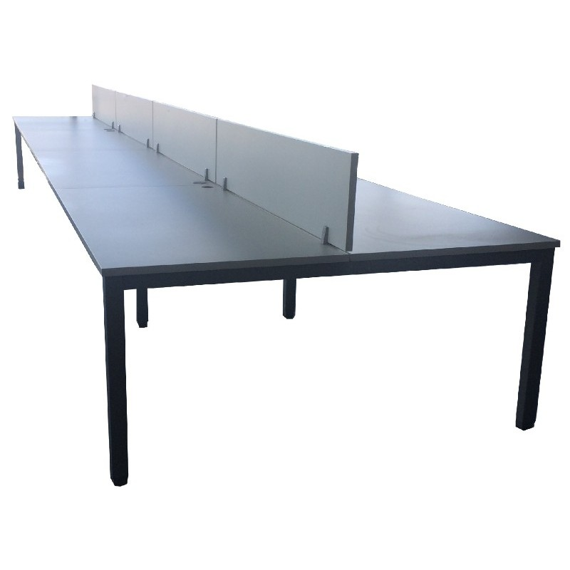 Bench 8 Puestos Enfrentados Mesas 160x80 640x160 8 Buck