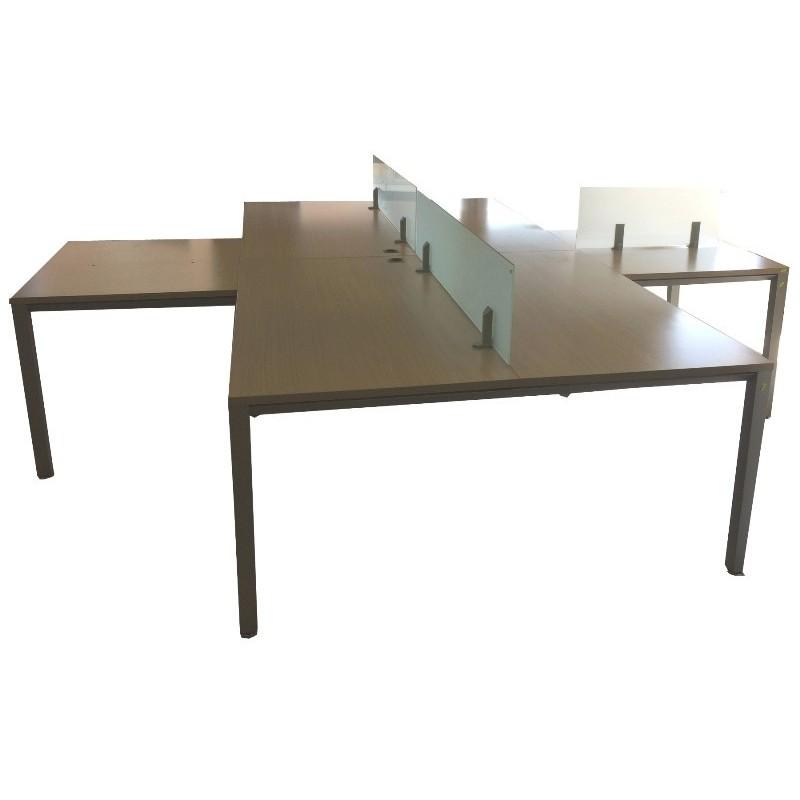 Bench: 4 mesas de 160x80 cm. Ala de 80x100 cm. 2 divisorias 150x35 ...