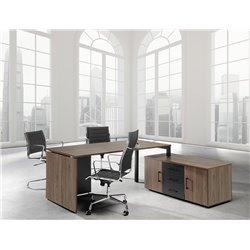Mesa con apoyo en mueble auxiliar serie M4 HE