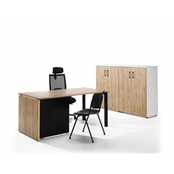 Mesa individual con armarios serie M4 HER