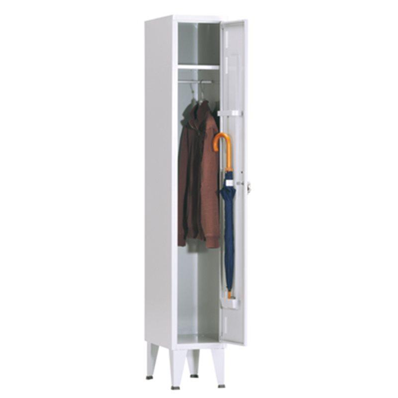 Armario ropero metálico, 1 puerta color Gris