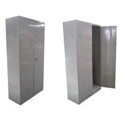 Armario metálico 195x100x42 cm., puertas altas 4 estantes Gris